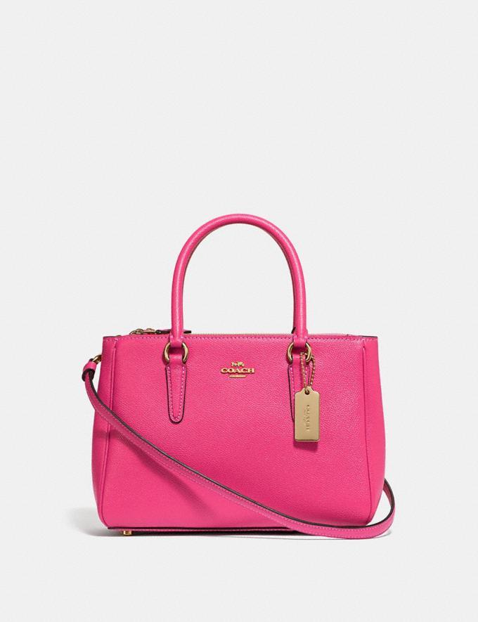 Coach Mini Surrey Carryall Pink Ruby/Gold Explore Women Explore Women Bags