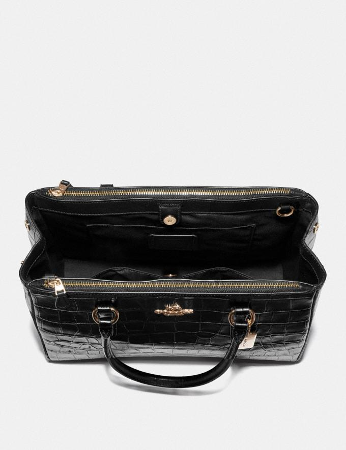 Coach Large Surrey Carryall Black/Imitation Gold Explore Women Explore Women Alternate View 1