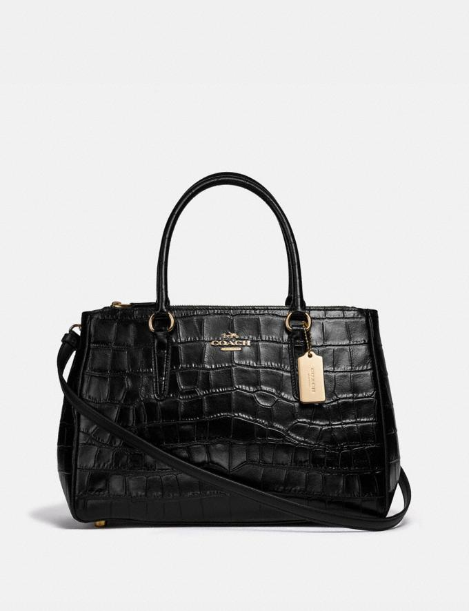 Coach Large Surrey Carryall Black/Imitation Gold Explore Women Explore Women