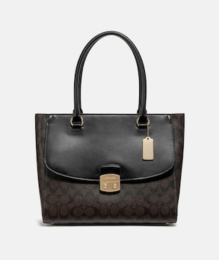 AVARY TOTE IN SIGNATURE CANVAS