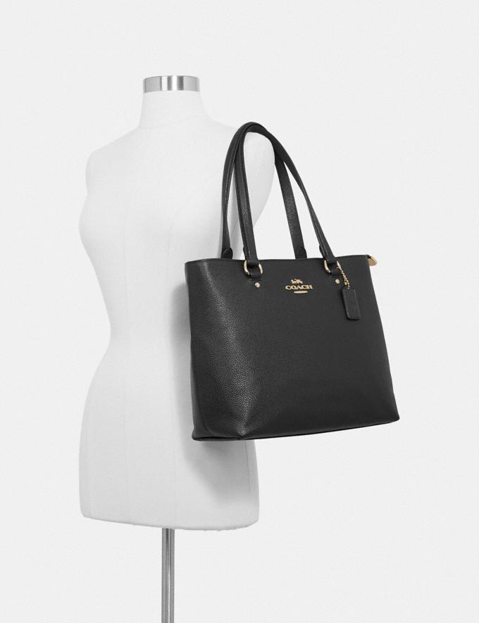 Coach Bay Tote Black/Imitation Gold Explore Bags Bags Business Bags Alternate View 2