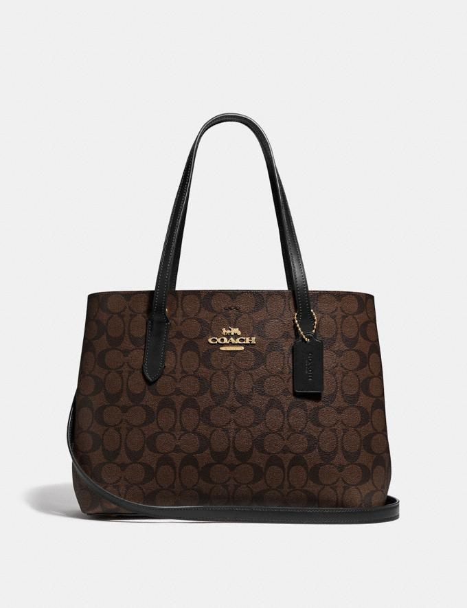 Coach Avenue Carryall in Signature Canvas Brown/Black/Imitation Gold