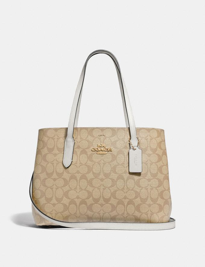 Coach Avenue Carryall in Signature Canvas Light Khaki/Chalk/Imitation Gold Explore Bags Bags Business Bags
