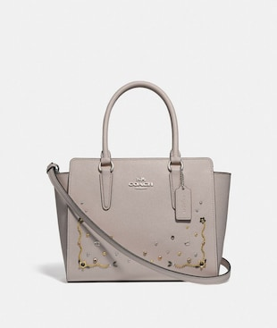 LEAH SATCHEL WITH STARDUST CRYSTAL RIVETS