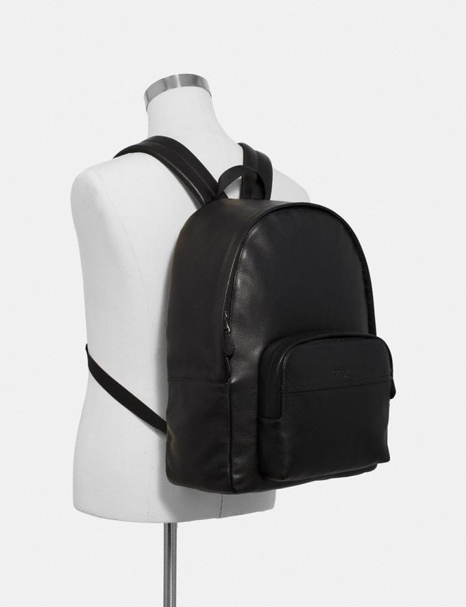 Coach Houston Backpack Black/Black Antique Nickel Explore Bags Bags Backpacks Alternate View 2