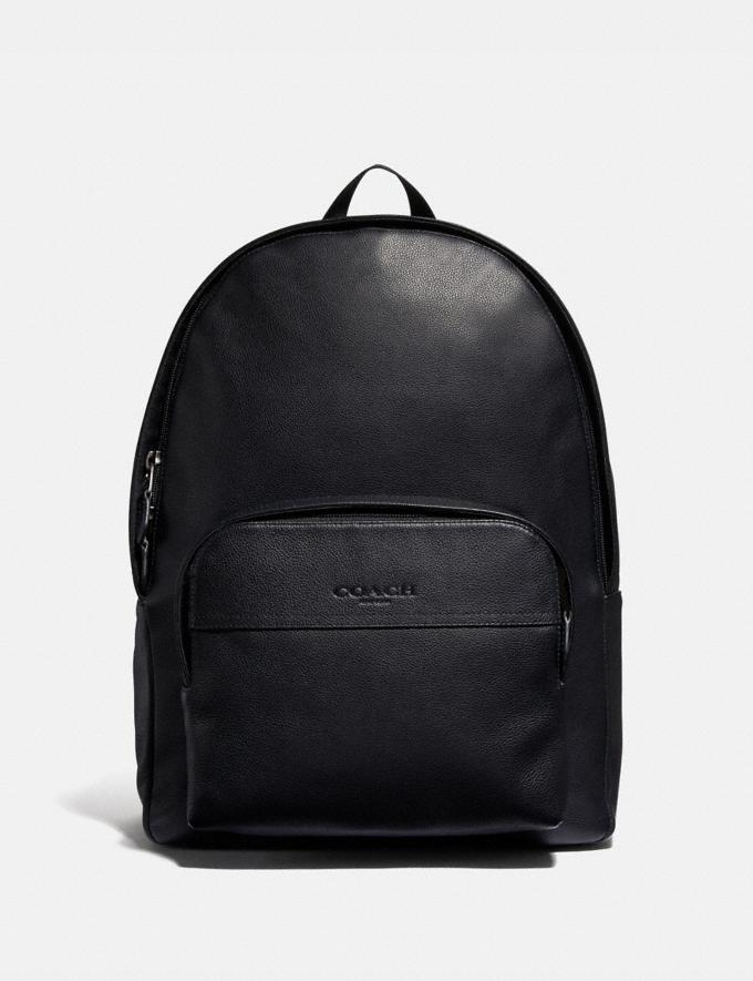 Coach Houston Backpack Black/Black Antique Nickel Explore Bags Bags Backpacks