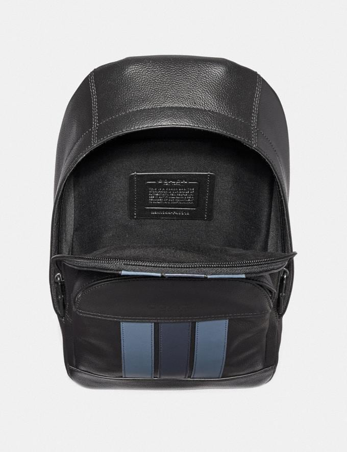 Coach Houston Pack With Varsity Stripe Saddle/Midnight Nvy/Chalk/Black Antique Nickel Explore Men Explore Men Travel Alternate View 1