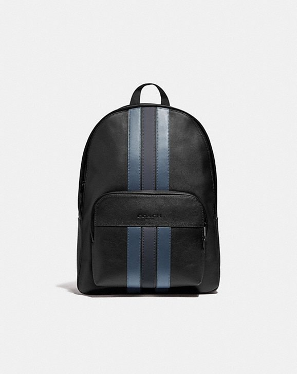 Coach HOUSTON BACKPACK WITH VARSITY STRIPE