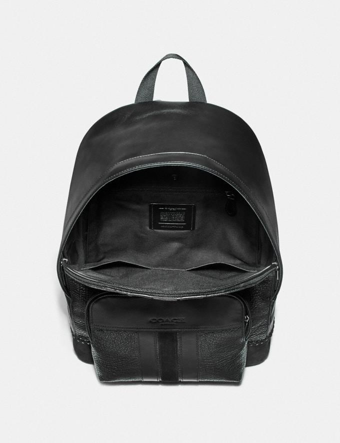 Coach Houston Backpack With Baseball Stitch Black/Black Antique Nickel Explore Men Explore Men Travel Alternate View 1