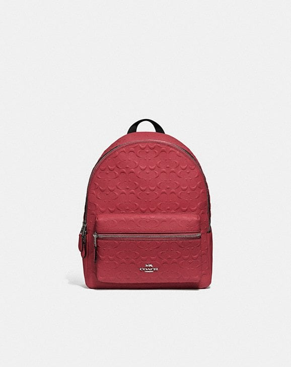 Coach MEDIUM CHARLIE BACKPACK IN SIGNATURE LEATHER