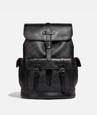 HUDSON BACKPACK IN SIGNATURE CANVAS