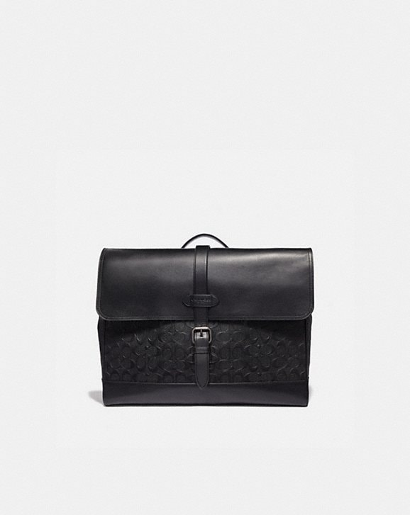 Coach HUDSON MESSENGER IN SIGNATURE LEATHER