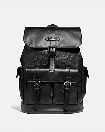 HUDSON BACKPACK IN SIGNATURE LEATHER