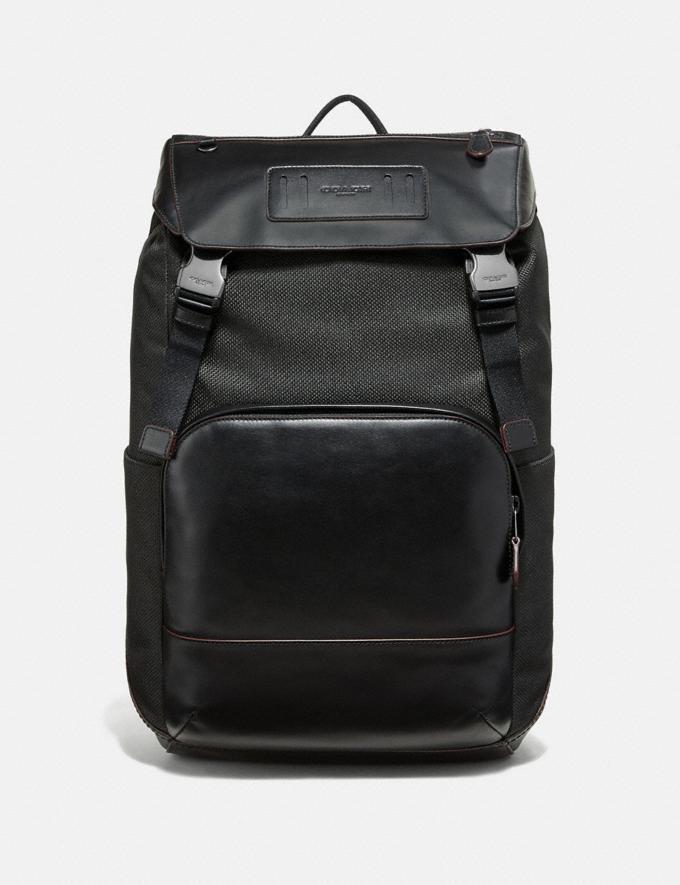 Coach Terrain Roll Top Backpack Black/Black Antique Nickel Explore Men Explore Men Travel