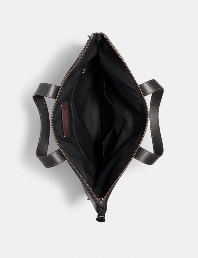 Coach Graham Foldover Tote Black/Black Antique Nickel Explore Men Explore Men Bags Alternate View 1