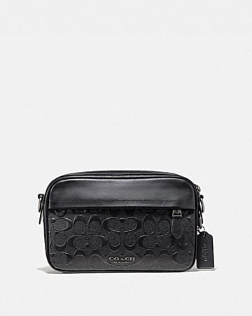 graham crossbody in signature leather
