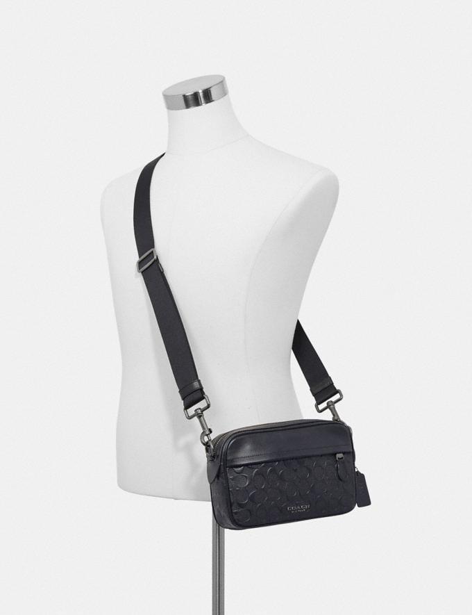 Coach Graham Crossbody in Signature Leather Black/Black Antique Nickel Explore Men Explore Men Bags Alternate View 2