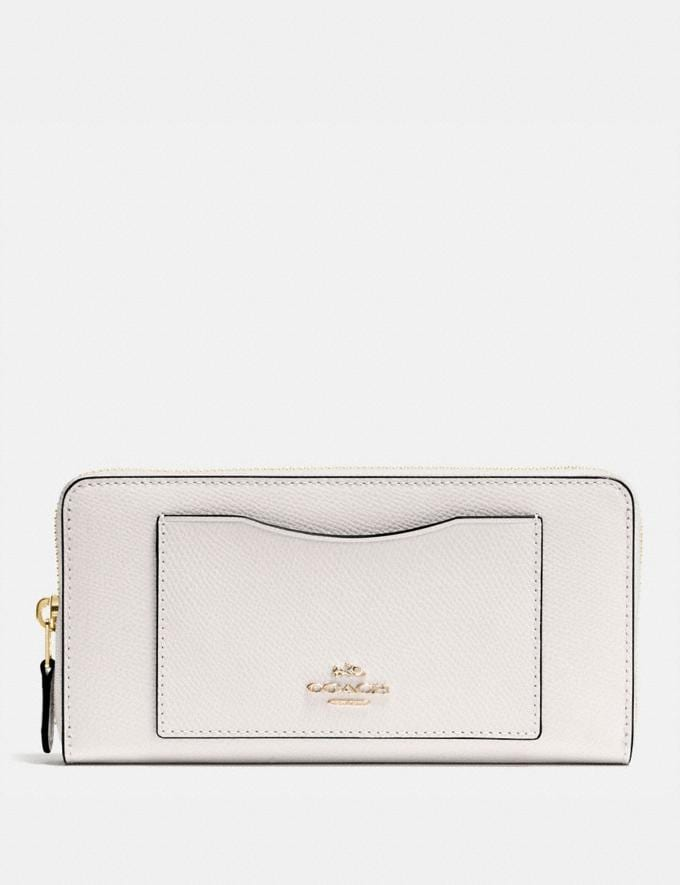 Coach Accordion Zip Wallet Chalk/Light Gold Deals Extra 10% Off New Neutrals