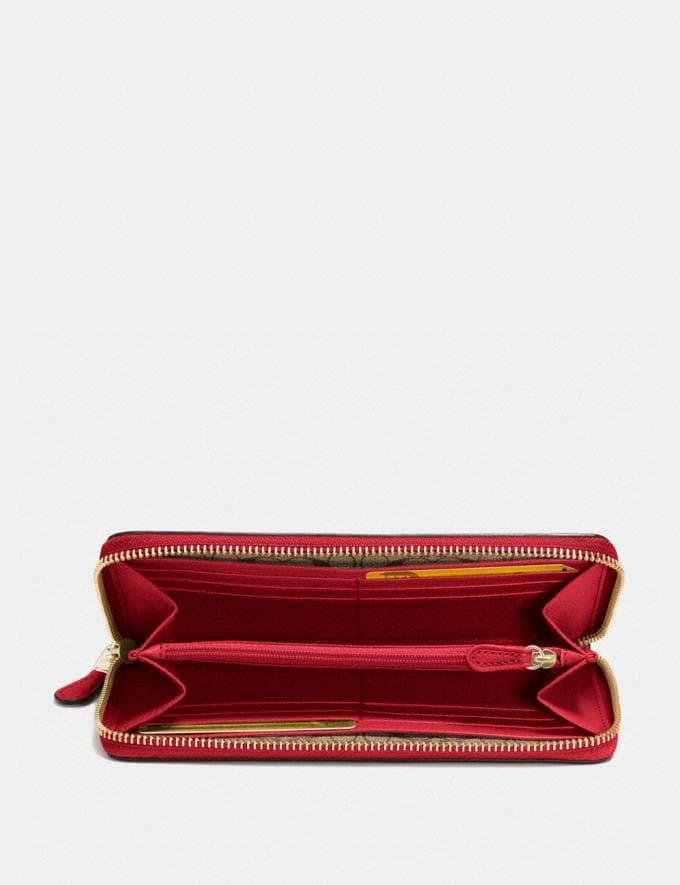 Coach Accordion Zip Wallet True Red/Light Gold Explore Women Explore Women Wallets Alternate View 1