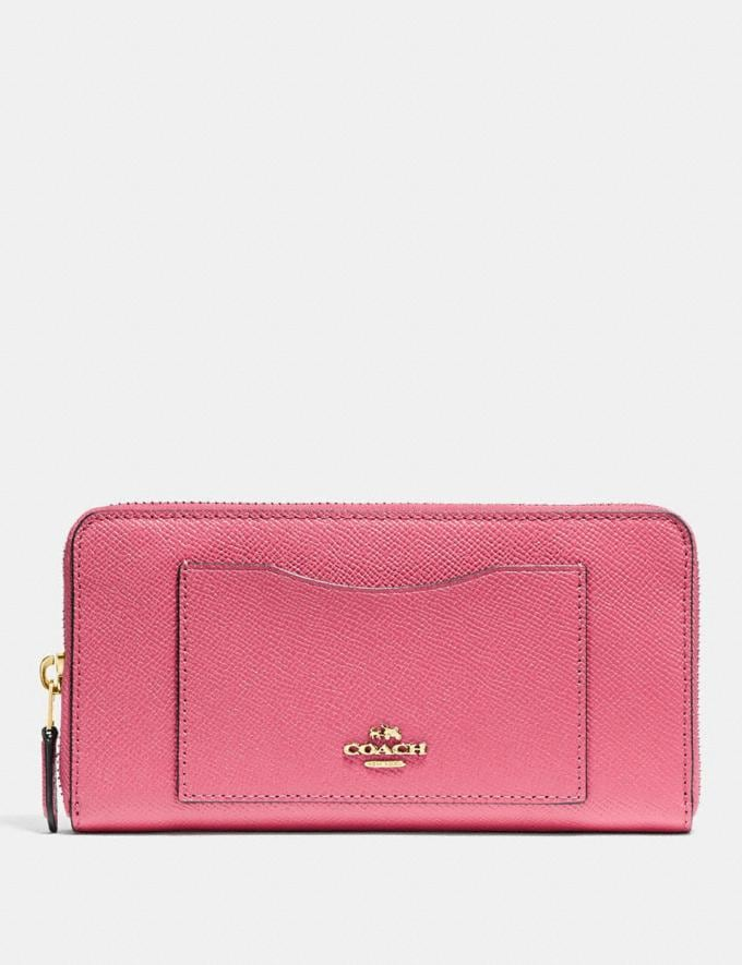 Coach Accordion Zip Wallet Strawberry/Imitation Gold Explore Women Explore Women Wallets