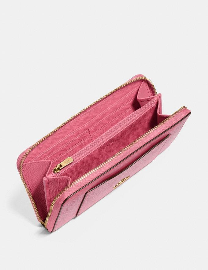Coach Accordion Zip Wallet Strawberry/Imitation Gold Explore Women Explore Women Wallets Alternate View 1