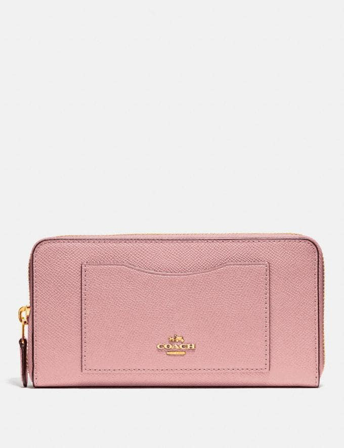 Coach Accordion Zip Wallet Im/Pink Petal Explore Women Explore Women Wallets