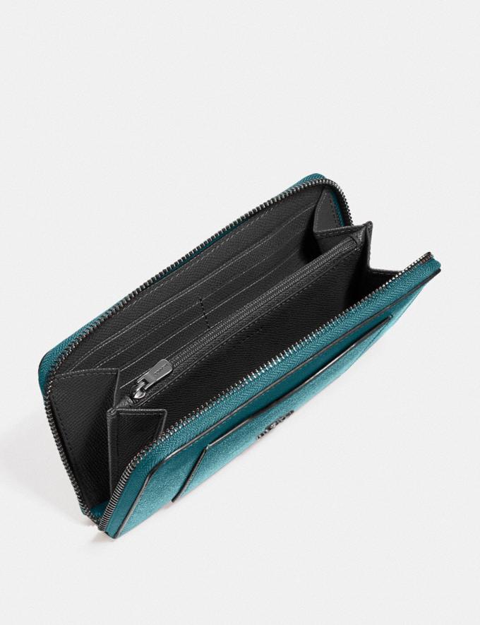 Coach Accordion Zip Wallet Qb/Metallic Viridian Explore Women Explore Women Wallets Alternate View 1
