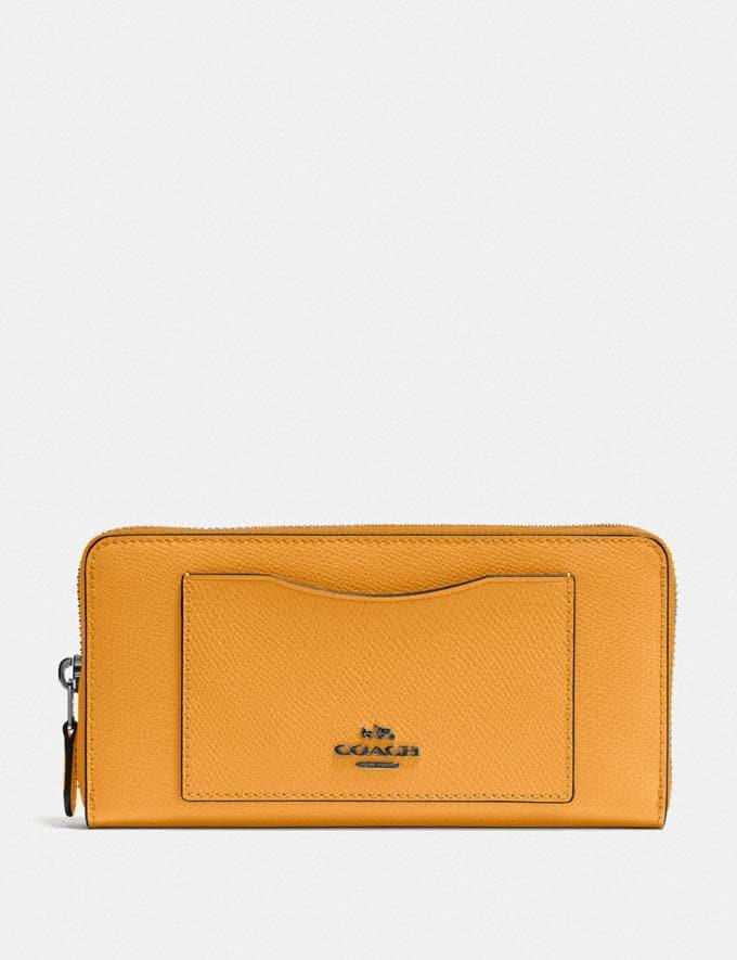 Coach Accordion Zip Wallet Qb/Yellow Accessories
