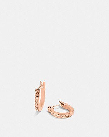 pave signature huggie earrings