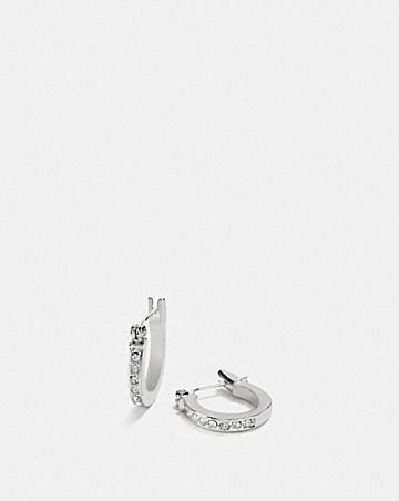 pave signature huggie earrings