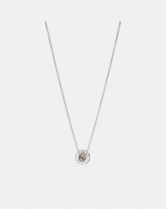 Coach OPEN CIRCLE STONE STRAND NECKLACE