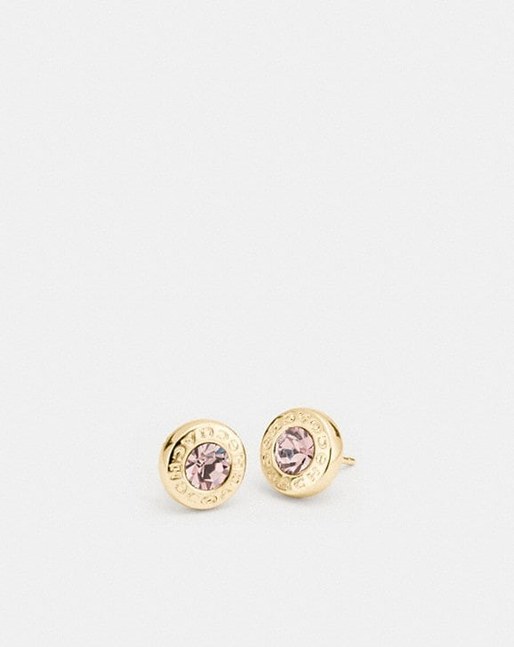 Coach OPEN CIRCLE STONE STRAND EARRINGS