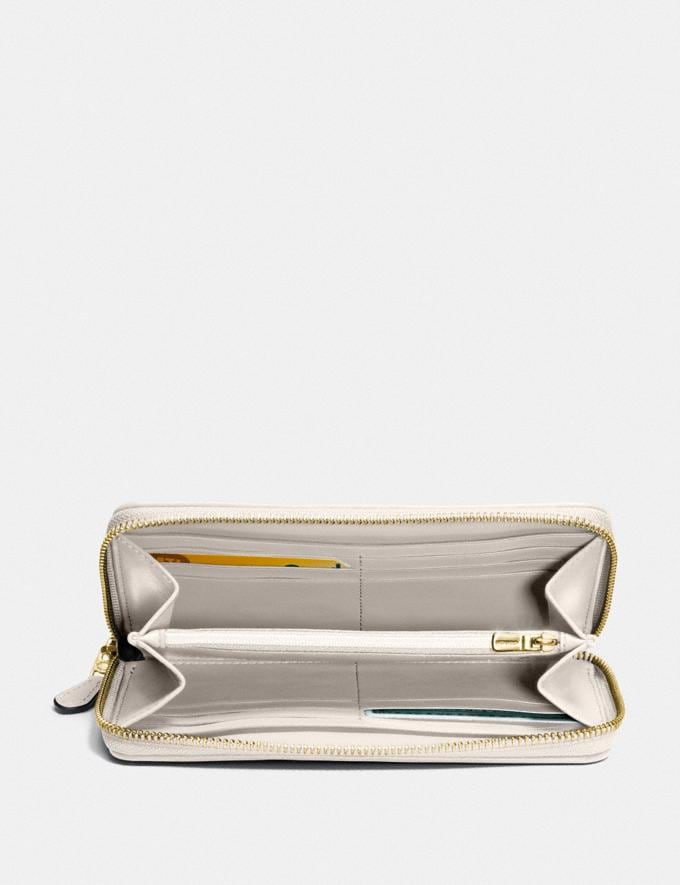 Coach Accordion Zip Wallet in Signature Canvas Khaki/Chalk/Gold Accessories Wallets Alternate View 1