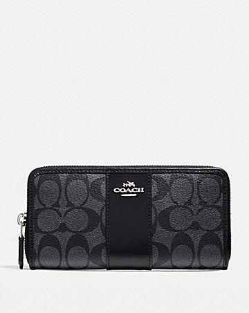 accordion zip wallet in signature canvas
