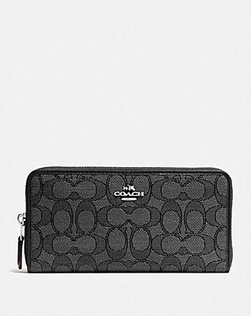 accordion zip wallet in signature jacquard