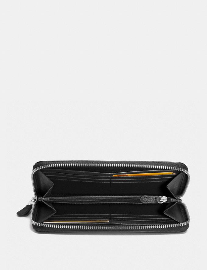 Coach Accordion Zip Wallet in Signature Jacquard Black Smoke/Black/Silver Accessories Wallets Alternate View 1