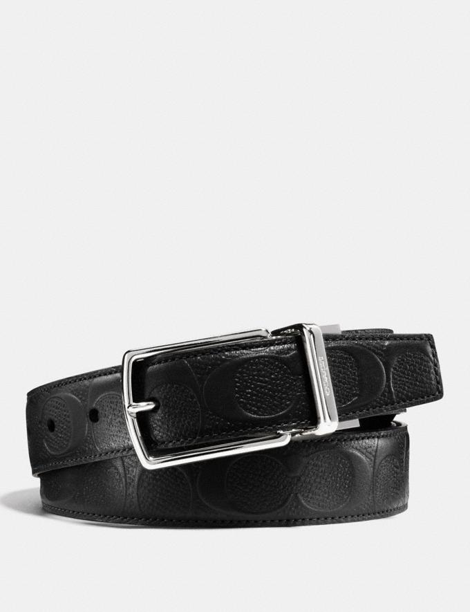 Coach Modern Harness Cut-To-Size Reversible Belt in Signature Leather Black