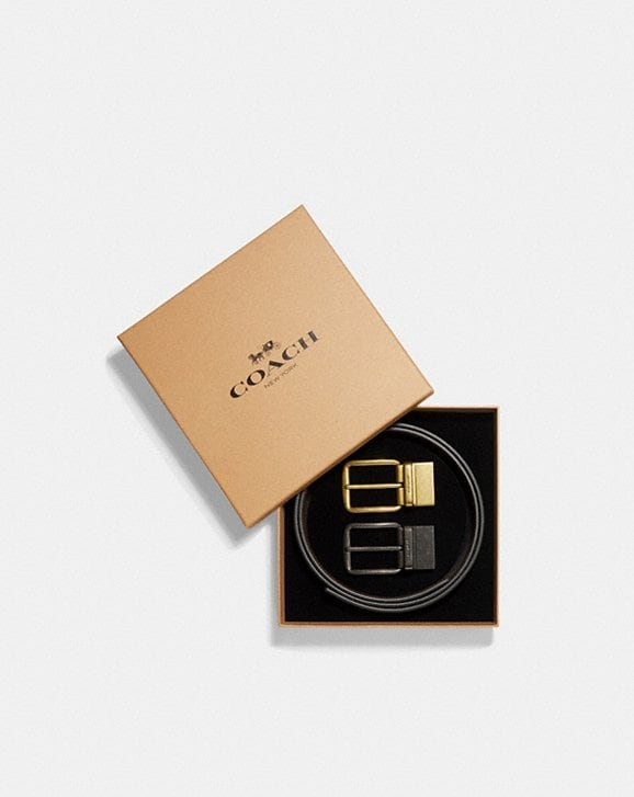Coach BOXED WIDE MIX HARNESS BELT