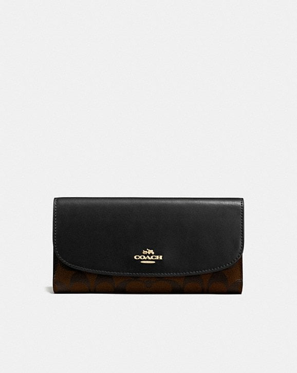 Coach CHECKBOOK WALLET IN SIGNATURE CANVAS