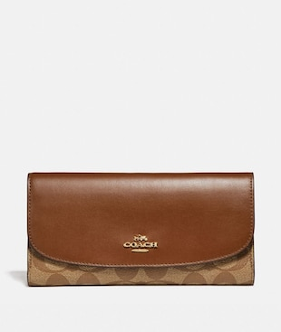 CHECKBOOK WALLET IN SIGNATURE CANVAS