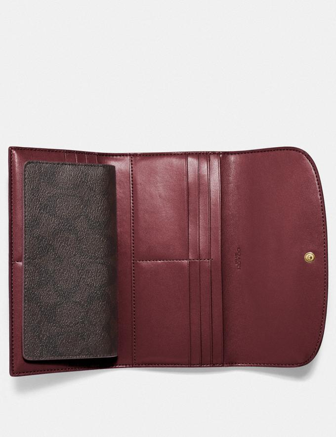 Coach Checkbook Wallet in Signature Canvas Im/Brown/Wine Explore Women Explore Women Wallets Alternate View 1