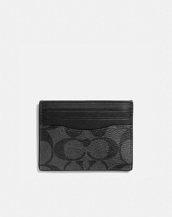 Coach SLIM ID CARD CASE IN SIGNATURE CANVAS