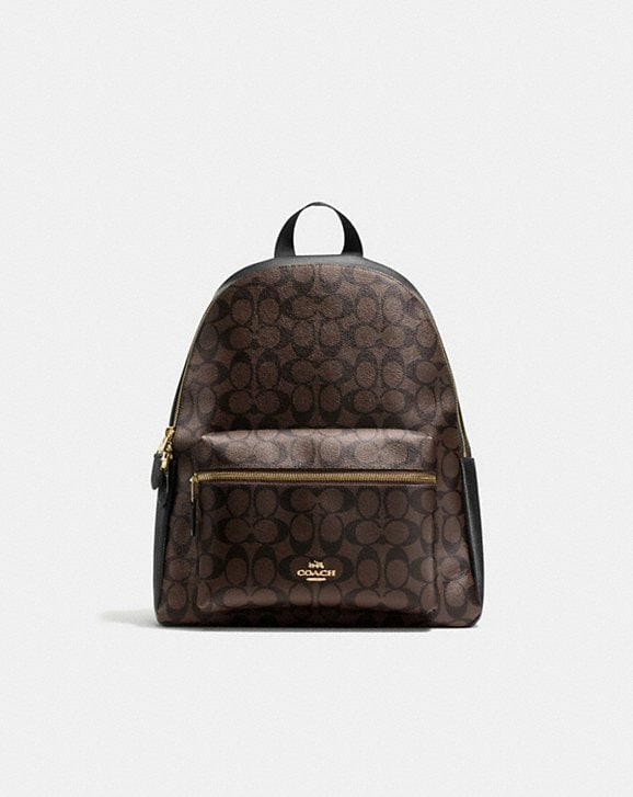 Coach CHARLIE BACKPACK IN SIGNATURE CANVAS