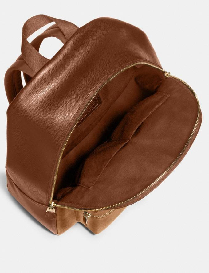 Coach Charlie Backpack in Signature Canvas Brown/Black/Light Gold DEFAULT_CATEGORY Alternate View 1