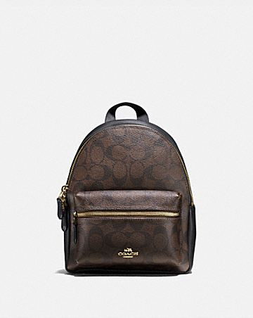 MINI CHARLIE BACKPACK IN SIGNATURE CANVAS