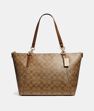 AVA TOTE IN SIGNATURE CANVAS