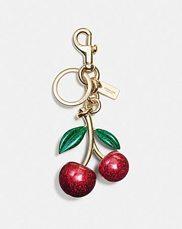 resin cherry bag charm