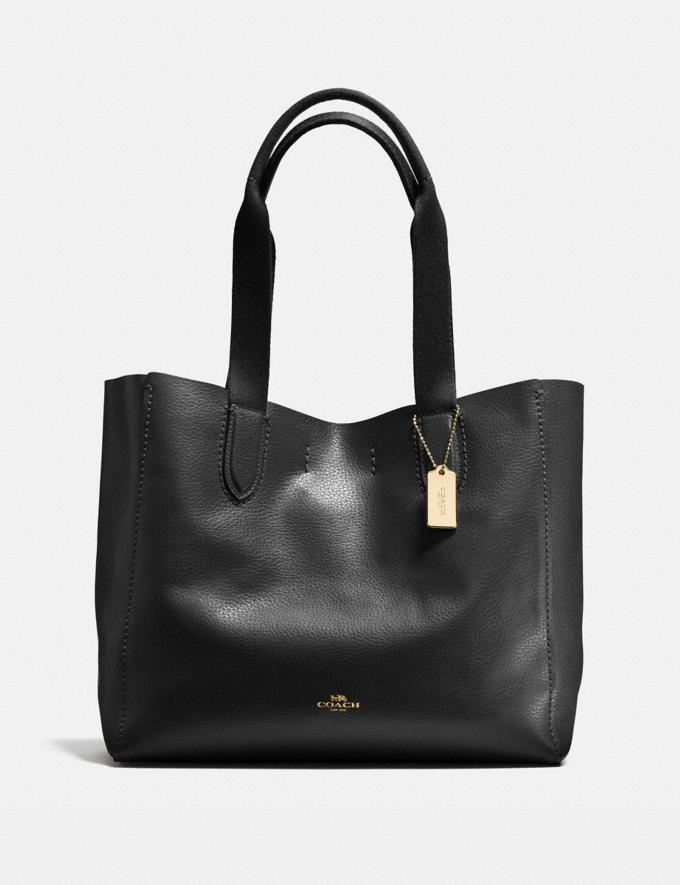 Coach Derby Tote Im/Black Oxblood 1 Deals Finds Under $100