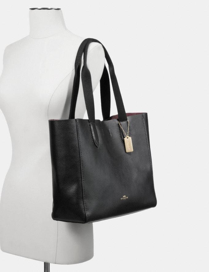 Coach Derby Tote Im/Black Oxblood 1 Deals Finds Under $100 Alternate View 2