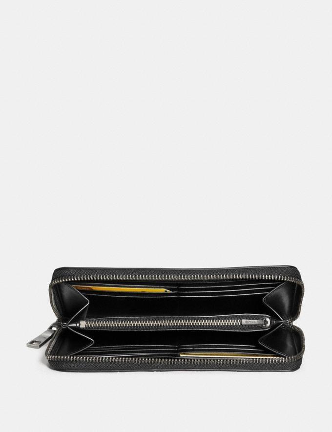 Coach Accordion Wallet With Varsity Stripe Brick Red/Oxblood/Cherry  Alternate View 1